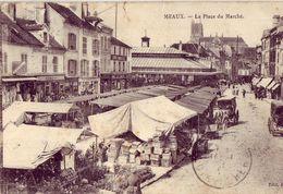 77 MEAUX La Place Du Marché 'Voir Etat Scan) - Meaux