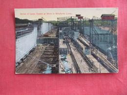 Panama Large Cranes Miraflores Locks Corner Crease  Ref 2878 - Panama