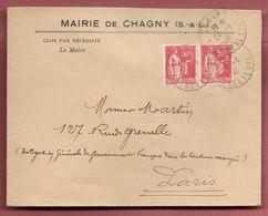 Enveloppe Avec  RS De La Mairie De Chagny (S & L) De 1941 - Militariat - Marcophilie (Lettres)