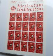 LIECHTENSTEIN LOT 4 KLEINBÖGEN Feuillet Bloc Winterspiele 1972 ** MNH SUPER ETAT - Blocs & Feuillets