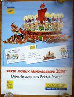 RARE AFFICHE PUBLICITAIRE  LA POSTE ASTERIX 1998 PRET A POSTER - Affiches & Offsets