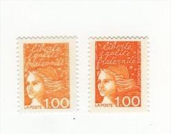 Luquet 1fr Orange YT 3089 Au Type I Avec Impression Pâle , Dépouillée  . Pas Coté Mais Pas Courant , Voir Le Scan . - Abarten: 1990-99 Ungebraucht