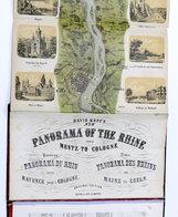 Carta Geografica Fiume Reno - Nouveau Panorama Du Rhin De Mayence A Cologne RARO - Altre Collezioni