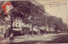 75 83 PARIS XIV° Dépot Des Voitures La Montrougienne Avenue Du Maine - France