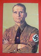 """""""Rudolf Hess"""",Zugelassene Westdeutsche NS-Propagandakarte Aus Den 80iger Jahren, Ungebraucht - Deutschland"""