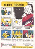 Buvard N° 3 / Comité Sur L'Alcoolisme / Le Destin Exemplaire D'ALBERT EINSTEIN - Buvards, Protège-cahiers Illustrés