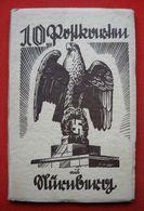 """10x Postkarten """"Nürnberg Reichsparteitag"""", Komplettes Propaganda-Leporello, Ungebraucht Top - Deutschland"""