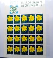 LIECHTENSTEIN LOT 11 KLEINBÖGEN Feuillet Bloc 1972 ** MNH SUPER ETAT - Blocs & Feuillets