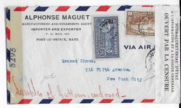 HAITI - 1945 - ENVELOPPE Avec 2 CENSURES De PORT AU PRINCE => NEW YORK (USA) - POLICE HAÏTIENNE - Haiti