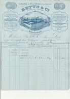 FACTURE - BETTS &Co - USINE A FLOIRAC (PRES BORDEAUX ) ANNEE 1876 - 1800 – 1899