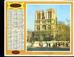 Calendrier 1955 Double Cartonnage, Notre Dame De Paris Et Versailles, Intérieur Complet - Calendriers