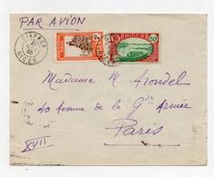 !!! PRIX FIXE : NIGER, LETTRE PAR AVION DE DIAPAGA DE 1935 POUR PARIS - Niger (1921-1944)