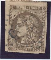 30 C Brun TB D'aspect. - 1870 Emission De Bordeaux