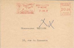 Lettre EMA Havas  1958 Toujour  Avec Sandalette Chaussures  LA CHOLETAISE  Metiers   Montfaucon Moine   A19/02 - Poststempel (Briefe)