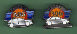 PEUGEOT 306 *** N°1 *** Lot De 2 Pin's Differents ***  A039 - Peugeot