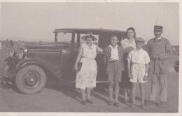 """Carte Photo - Facteur Et Sa Famille Devant Une """"Citroën AC4F Ou C4F De 1930 - Circulé 1932 Depuis Agadir - Turismo"""