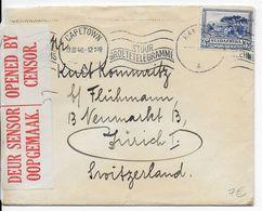 AFRIQUE DU SUD - 1940 - ENVELOPPE Avec CENSURE De CAPETOWN Avec MECA => ZÜRICH (SUISSE) - Briefe U. Dokumente