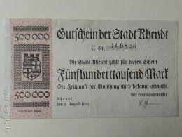 Rhendt 500000 Mark 1923 - [11] Emissioni Locali