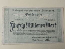 Stuttgart 50 Milioni Mark 1923 - [11] Emissioni Locali