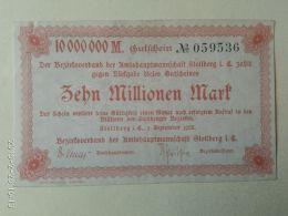 Stollberg 10 Milioni Mark 1923 - [11] Emissioni Locali