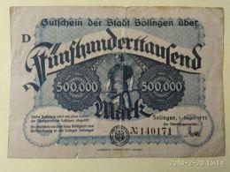 Solingen 500000 Mark 1923 - [11] Emissioni Locali