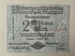 Stuttgard 2 Milioni Mark 1923 - [11] Emissioni Locali