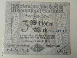 Stuttgard 3 Milioni Mark 1923 - [11] Emissioni Locali