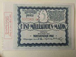 Speyer 5 Miliardi Mark 1923 - [11] Emissioni Locali