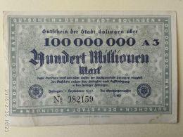 Solingen 100 Milioni Mark 1923 - [11] Emissioni Locali