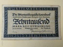 Stuttgart 10000 Mark 1923 - [11] Emissioni Locali