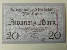 Konftanz 20 Mark 1919 - [11] Emissioni Locali