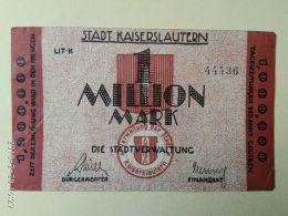 Kaiserslautern 1 Milione Mark 1923 - [11] Emissioni Locali