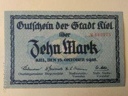 Kiel 10 Mark 1918 - [11] Emissioni Locali