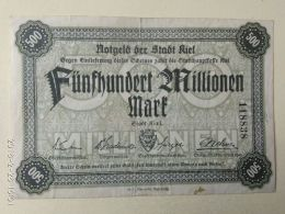 Kiel 500 Milioni Mark 1923 - [11] Emissioni Locali