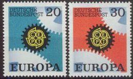 DEUTSCHLAND 1967 Mi-Nr. 533/34 ** MNH - CEPT - Europa-CEPT