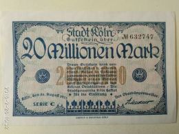 Koln 20 Milioni Mark 1923 - [11] Emissioni Locali