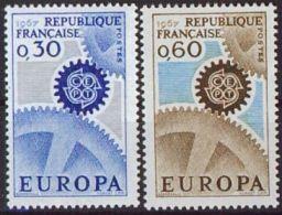 FRANKREICH 1967 Mi-Nr. 1578/79 ** MNH - CEPT - Europa-CEPT