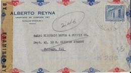 VENEZUELA - 1944 - ENVELOPPE Par AVION Avec CENSURE US De CARACAS => CHICAGO (USA) - Venezuela