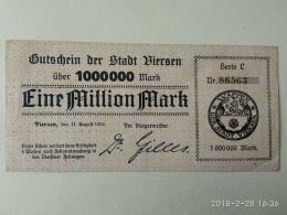 Viersen 1 Milione Mark 1923 - [11] Emissioni Locali