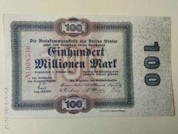 Wetzlar 100 Milioni Mark 1923 - [11] Emissioni Locali
