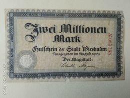Wiesbaden 2 Milioni Mark 1923 - [11] Emissioni Locali