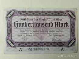 Wald 100000 Mark 1923 - [11] Emissioni Locali