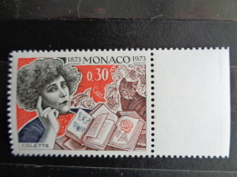 MONACO 1973 Y&T N° 920 ** - CENTENAIRE DE LA NAISANCE DE COLETTE - Monaco