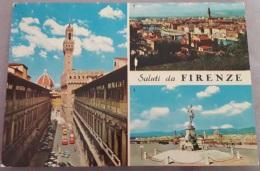 Saluti Da Firenze  - Gli Uffizi - Piazzale Michelangelo - 27 - Viaggiata 1973 - (2297) - Firenze