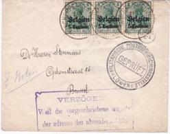 Enveloppe Scherpenheuvel  Brussel Censure Lowen - WW I