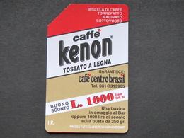 ITALIA RARA 2433 C&C 394A GOLDEN - CAFFE' KENON NUMERICA - USATA QUALITA' FIOR DI STAMPA - Pubbliche Pubblicitarie
