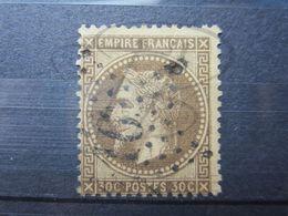 """VEND BEAU TIMBRE DE FRANCE N° 30h , FOND LIGNE , ETOILE DE PARIS """" 16 """" !!! - 1863-1870 Napoléon III Lauré"""