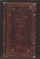 SCHWEDISCHE GEMEINDE ZU PARIS 1770  Geiftreicher Lieder 1764 Evangelischen Kirchen-France Paroisse Suedoise - Livres Anciens