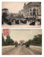 """75 - PARIS . """" LE BOULEVARD BONNE NOUVELLE """" & """" AVENUE DU BOIS DE BOULOGNE """" . 2 CARTES POSTALES - Réf. N°7893 - - France"""