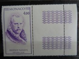 MONACO 1988 Y&T N° 1640 ** - CENTENAIRE DE LA 1ere TRAVERSEE DU GROELAND PAR FRIDTJOF NANSEN - Monaco